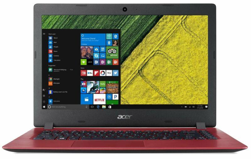Laptop Windows - Acer Aspire 3 15.6 Inch Intel Celeron 4GB RAM 128GB SSD Windows Laptop - Red