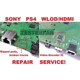 Fix Broken Sony PS4 System WLOD/HDMI Ripped Pads/Video Encoder IC Repair Service