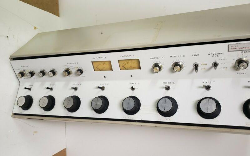 Collins 212v-1 212 V 1 Dual Mono Broadcast Console Mixer On Air