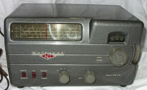 NATIONAL (NC) MODEL SW-54 SHORTWAVE TUBE RADIO, ca 1951