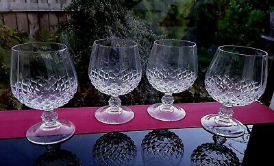 4 FRENCH VINTAGE GLASSES BALLOONS CRYSTAL BAILEYS GIN BRANDY