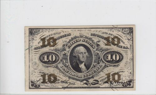 Third Issue 10 Cents Fractional Currency Note 10c