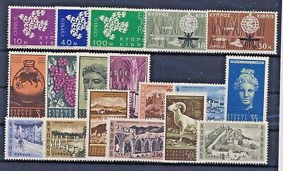 Zypern Jahrgang 1962 postfrisch / in den Hauptnr. komp. (7207) .................