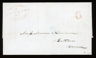 HALE & Co. LOCAL POST 1844 COVER SCARCE PROVIDENCE TO - Co Post