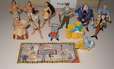 """Satz Fremdfiguren """"Pocahontas"""" mit Beipackzettel von Nestle"""