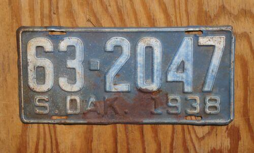 1938 South Dakota License Plate