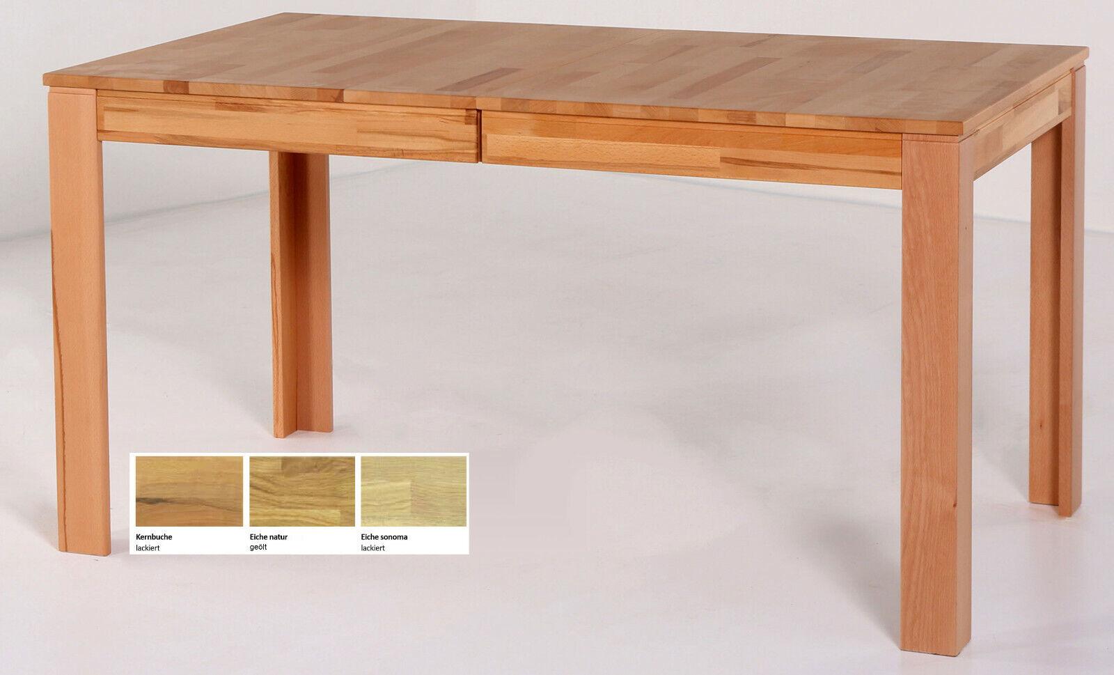 Standard Pedro Massivholztisch ausziehbar Esstisch massiv Küchentisch Holztisch