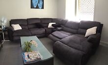 5 seat fabric lounge. Modular Coomera Gold Coast North Preview