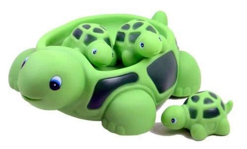 Floating Bath Tub Toy Playmaker Toys Rubber Turtle Family Bathtub Pals Set of 4