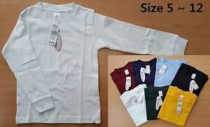 Bulk-buy (10 pcs) Kids Long Sleeves Cotton Tee School Uniform Brunswick Moreland Area Preview