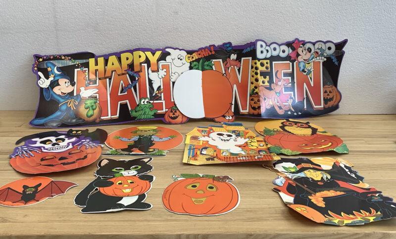 Vintage Die Cut Halloween Wall Hanging Beistle Hallmark USA Hong Kong Fun World