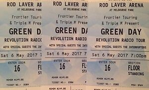 3 X Green Day Tickets Malvern East Stonnington Area Preview