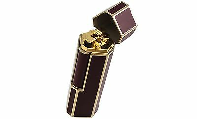 ST DUPONT  Karl Lagerfeld Lotus Red Lacquer Yellow Gold Lighter 026001