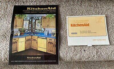 KitchenAid Product Line Brochure Catalog 1977 Folds Out Mixers Dishwashers