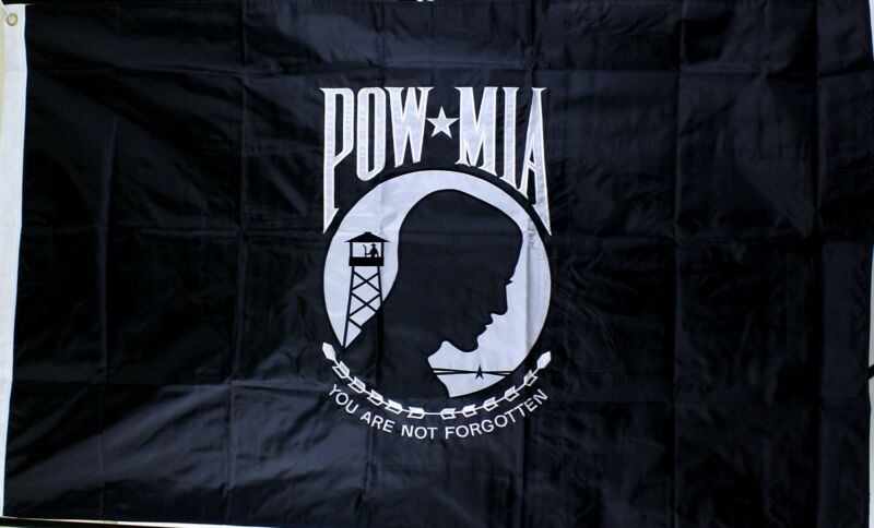 POW-MIA Flag Double Sided Embroidered 3