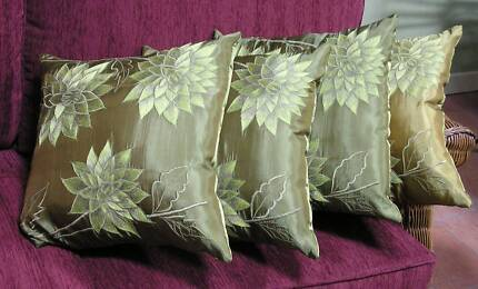 Cushions - Embroidered x 4