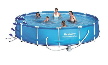 Bestway Above Ground Swimming Pool w Filter / Pump 457x91cm 56066 Thomastown Whittlesea Area Preview
