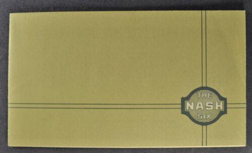 1924 Nash Six 6 Small Brochure Touring Car Sedan Coupe Excellent Original 24