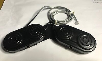 Vintage Quad Foot Pedal 4 Switches With A Phone Jack Plug Connector Nos Black