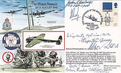 Battle of Britain Signed 3 Pilots & 3 RAAF's all involved Battle of Britain