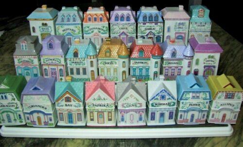 Exc LOT 22 Vintage 1989 LENOX SPICE VILLAGE  22 Porcelain Houses