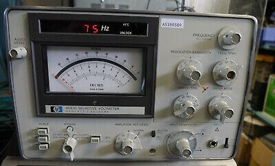 Hewlett Packard Model 3581c Wave Analyzer 15h To 60khz - Audio Output
