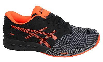 Asics FuzeX Lace Up Mens Trainers Running Shoes Black Orange T6K3N 9630 B92E