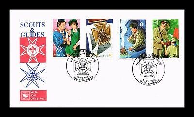 DR JIM STAMPS SCOUTS GUIDES FIRST DAY ISSUE MALTA COMBINATION MONARCH SIZE COVER
