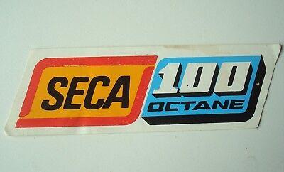 Autocollant / sticker SECA 100 octane vintage années 70.