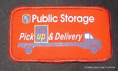 Public Storage Pick Up Delivery Printed Patch Advertising 4 1 2  X 2 1 2