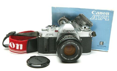 Vintage Canon AV-1 Manual Focus Camera & FD 1.8/50mm Standard Lens. Tested. Ex.
