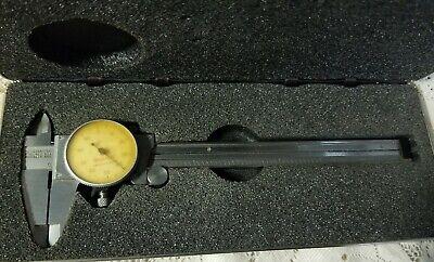 Starrett No.120 Dial Caliper 0-6 .001 Machinist Tool Micrometer Wcase