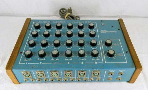 VINTAGE 1980's NEPTUNE MODEL 610 6 CHANNEL AUDIO MIXER