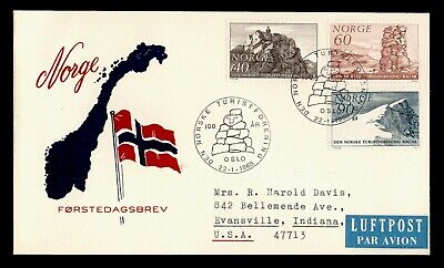 DR WHO 1968 NORWAY FDC NORWEGIAN MOUNTAIN TOURING ASSOC CENTENARY C243362