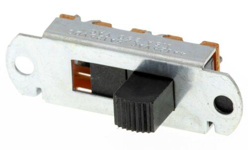 Lot of 25 - 3-Position SP3T Panel Mount Slide Switch Black, 4A/125VAC .5A/125VDC