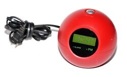 RARE Memorex Sphere Timeball Alarm Clock Radio Red Ball MSP-CR1100 Free Ship