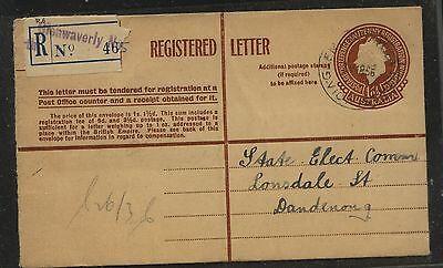 Australia   nice registered postal  envelope  used        KL0713