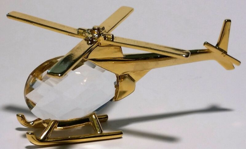 Crystal Helicopter Handcrafted By Bjcrystalgifts Using Swarovski Crystal