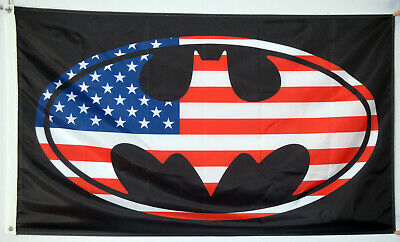 Oval Usa Flag (Batman USA Flag Marvel Batman Oval Rare Bat 3x5ft banner US Seller )