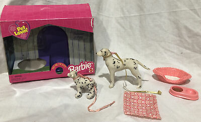 Barbie Pet Lovin' Dalmatian and Puppy Flocked Dog Accessories Blanket Mattel {