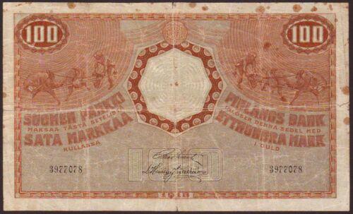 FINLAND  100 Markkaa  1918