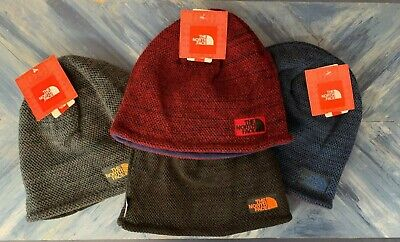 North Face Reversible Fleece Knit Beanie Sock Cap