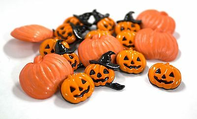 1 Dozen (12 pcs.) Cute Novelty Pumpkin Buttons Perfect for Halloween Projects! (Halloween Pumpkin Projects)