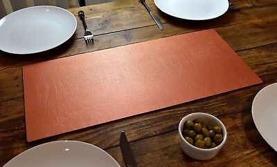 Set of 2 ARTISAN COPPER Bonded Leather TABLE RUNNERS MAT Centerpiece MADE IN UK
