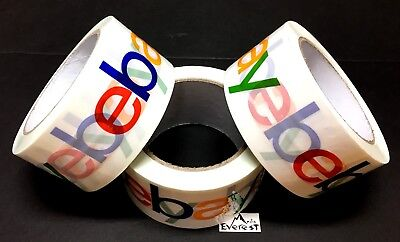 3 Roll Official Genuine Authentic Ebay Brand Logo Packaging Tape Bopp Shipping