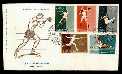 DR WHO 1960 SAN MARINO FDC XVII OLYMPICS  C223648