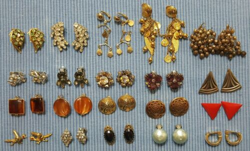 Vintage ALL CLIP ON Earring LOT X20 Amazing! Lot 8
