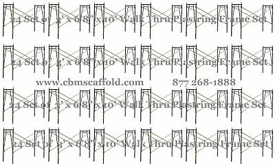 24 Set Of 3 X 68 X 10 Plastering Masonry Scaffold Frame Set Cbmscaffoldcom