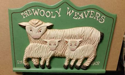 The wooly weaver wall decal