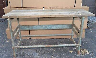 Cast Iron Leg Table Base Drafting Industrial Ideal Model 900 Desk Steampunk